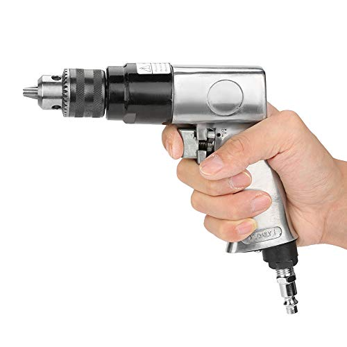 """3/8"""" Air Pneumatic Drill 1700rpm High-speed Reversible Rotation Drill Tool for Hole Drilling"""