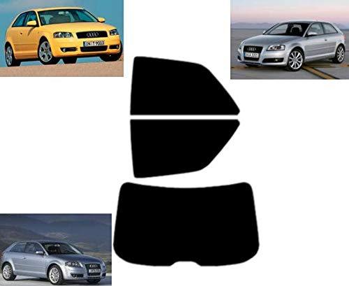Tintcom.com Pellicola Oscurante Vetri Auto Pre-Tagliata per-Audi A3 3-Porte 2003-2010 Vetri Posteriori & Lunotto (50% Fumo Chiaro)