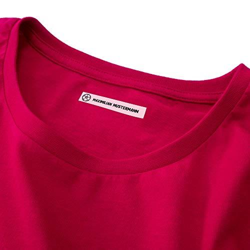 Wäscheetiketten (100) mit Namen zum Einbügeln für Kleidung Bügeletiketten Wäscheschilder Namensschilder mit Motiv ohne Motiv (mit Motiv)