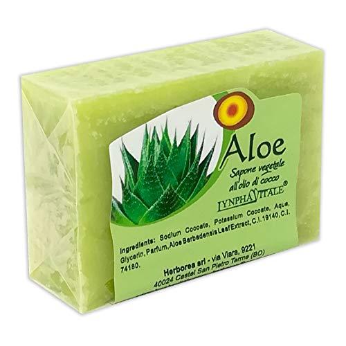 Pure plantaardige aloëzeep - Hydraterende en genezende zeep met anti-verouderingseigenschappen - Handgemaakte Italiaanse zeep - Geen kleurstoffen, chemische conserveermiddelen of oppervlakte