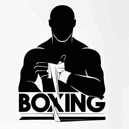 Pegatinas De Pared-Guantes De Boxeo Gigante Adelante 58X78Cm Adhesivo De Pared/Papel Pintado/Póster/Silueta Para Decoración Del Hogar