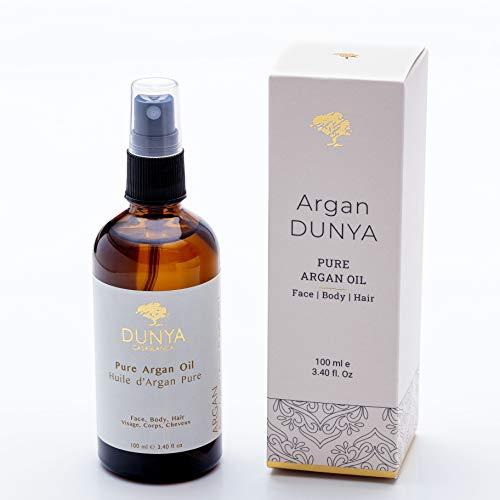 DUNYA PURE ARGAN OIL - Reines marokkanisches Arganöl 100% biologisch - Unraffiniertes und organisches Öl. Von hoher kosmetischer Qualität und völlig natürlich....