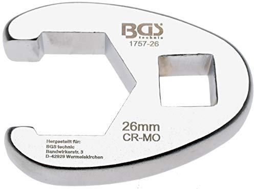 BGS 1757- 26 | Hahnenfußschlüssel | 12,5 mm (1/2 Zoll) | SW 26 mm