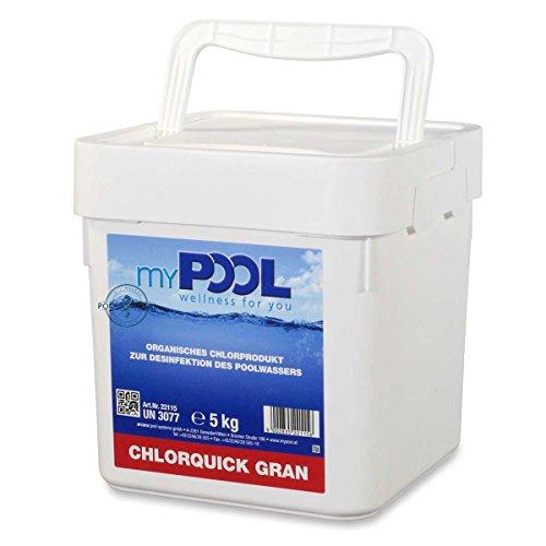 Unbekannt MYPOOL Chlor-Granulat Chlorquick Gran, 5 kg