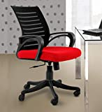 Finch Fox Low Back Royal Ergonomic Desk Mesh Chair in Black & Red