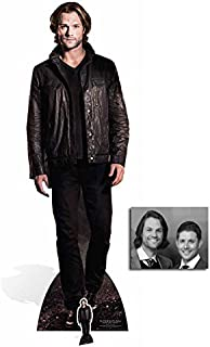 Fan Pack - Sam Winchester (Jared Padalecki) Supernatural Lifesize and Mini Cardboard Cutout / Standee / Standup - Includes 8x10 Star Photo
