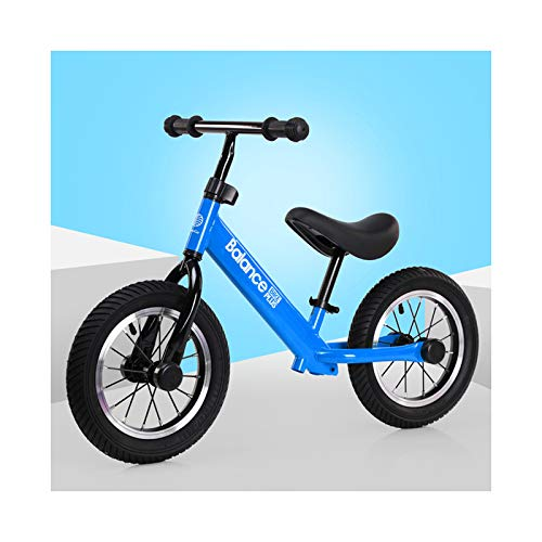 GXM-FSTOOL 12' Balance Bike Carbon Steel Frame No Pedal Walking Balance Bike Training Bicycle,Adjustable Seat Height, for Kids And Toddlers 2-6 Years Old,F