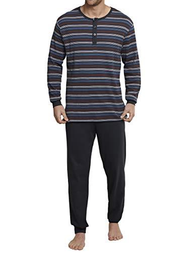 Seidensticker Herren Anzug lang Schlafanzug-159306 Zweiteiliger Schlafanzug, Schwarz (Kohle 003), 54