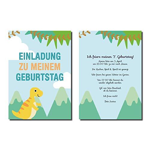 Uitnodigingskaart kinderverjaardag Dino (niet beschikbaar in het Nederlands)