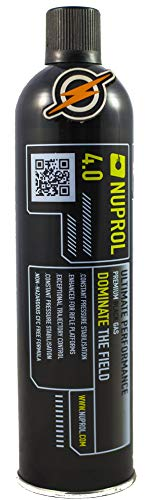 First and Only Airsoft Gas and Patch, Nuprol 4.0 Black Gas hi power BB...