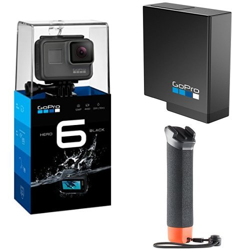 GoPro Hero6, Videocámara de acción, Pack de GoPro The Handler + Batería oficial de repuesto
