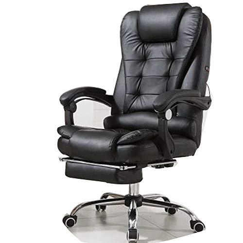Silla de ordenador, silla de oficina en casa, silla de jefe, reposapiés de masaje, diseño ergonómico ajustable, mecanismo de inclinación sincrónico, rotación de 360 grados moderno Large 4