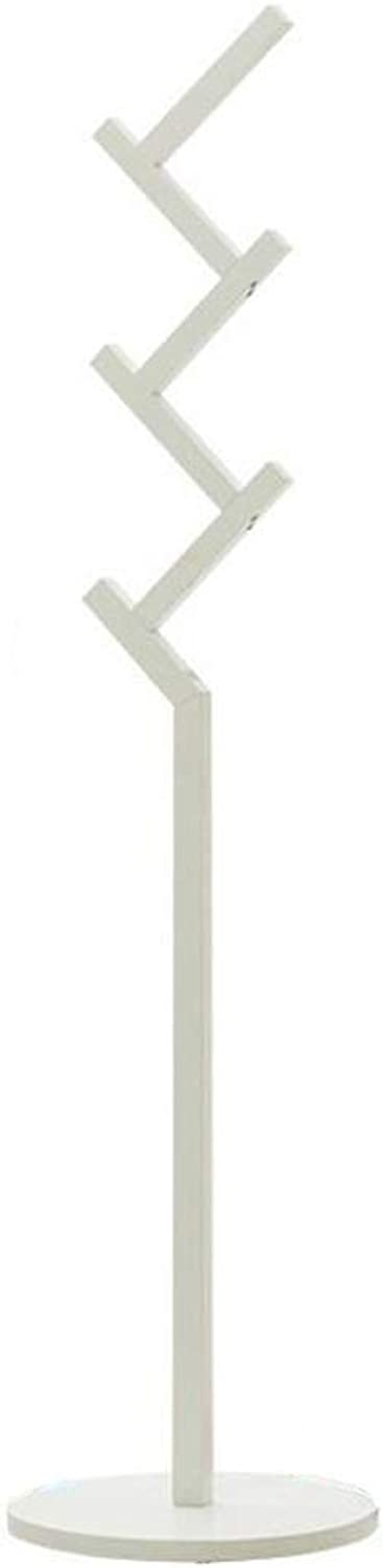 Coat Rack, Hat Clothes Stand Hanger Free Standing Hall Tree Hat Hanger Holder with Right Angle Hook, for Bedroom Hallway Home (color   White)