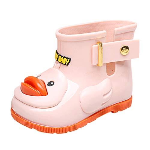 TWIFER Botas de Agua Unisex Niños Niñas Bebé de Goma para niños Botas de Lluvia Impermeable Patito Amarillo Botas de Agua Botas de Lluvia Chicas Zapatos Antideslizante Suave y Duradero