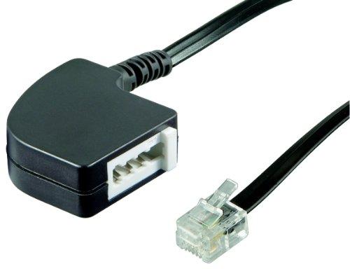 InLine 69945 TAE Adapterkabel, RJ11 Stecker auf TAE-F Buchse, 0,2m