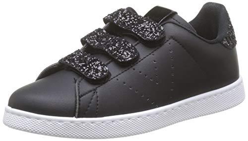 Victoria Tenis Velcros PU/Glitter, Baskets Mixte, Noir (Negro 10), 39 EU