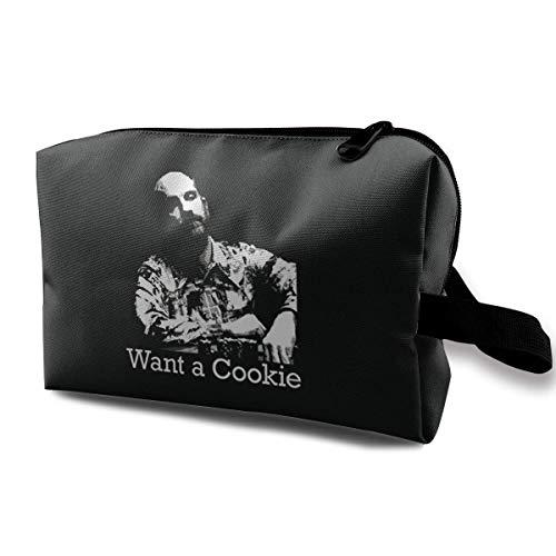 Hdadwy Teddy KGB Rounders Poker Movie Cool Cosmetic Bag Almacenamiento Bolsa de Maquillaje de Viaje