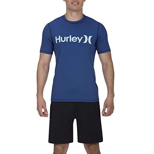 Hurley M One&Only S/S Tee-Shirts Techniques De Surf Homme, Blue Force, FR : M (Taille Fabricant : M)