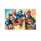 DRAGON VINES Póster de Lilo y Stitch de la pequeña chica hawaiana Langley, 50 x 75 cm