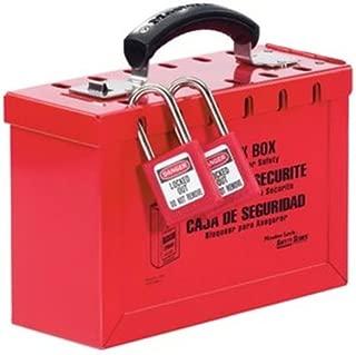Master Lock Lockout Tagout Lock Box, Latch Tight Portable Group Lock Box, 498A