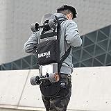 EM Unique Design Multifunctional 900D Oxford Cloth Durable Waterproof Carrying Bag for Skateboard Adjustable Double Shoulder Surfing Bag Backpack (Not Board)