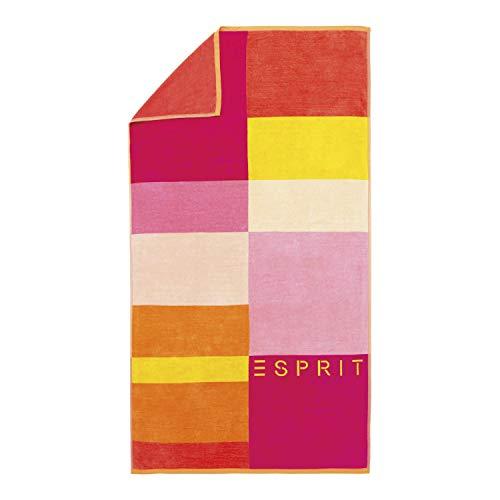 ESPRIT Strandlaken Lani Streifen Strandtuch Badetuch Pink 100 cm x 180 cm