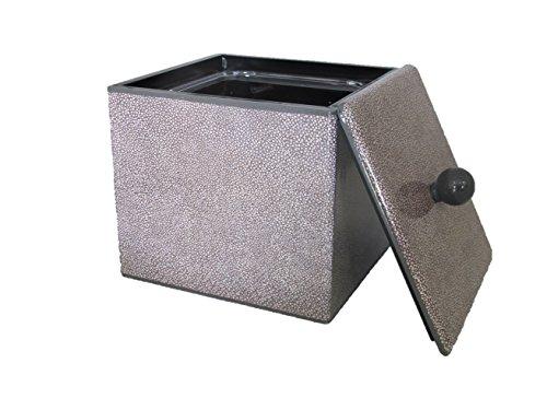 Fundashop FCPV16 Boîte de Cubes de Glace décorée galuchat en Bois Gris