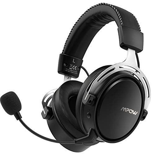 Mpow Wireless Gaming Headset for PS4/PC, Dual Chamber Driver with Stereo...