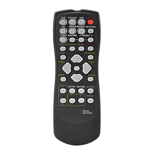 RAV22 WG70720 Fernbedienung, Ersatzfernbedienung für Yamaha RX-V459 RX-V357 HTR5830 TV