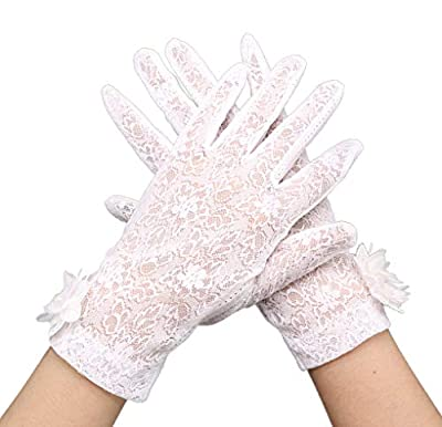 Women's Bridal Wedding Lace Gloves Derby Tea Party Gloves Victorian Gothic Costumes Gloves