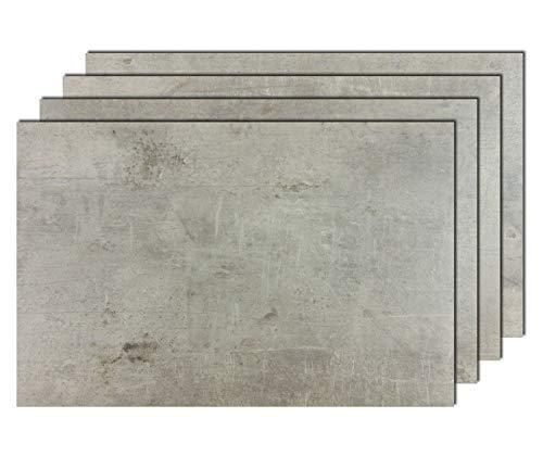 4er Premium Tischsets Steinoptik Beton-Grau (rechteckig, abwaschbar, PVC, ca.43,5x28,5cm, ca.1,8mm, ca.150g)