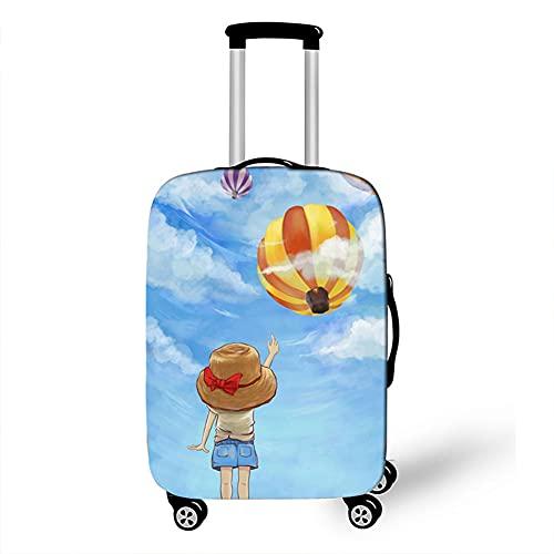 Surwin 3D Cubierta de Equipaje Protectora Suave Elástico Anti-Polvo Lavable Funda de Maleta Luggage Cover con Cremallera Viaje Cubierta de la Caja (Pintura de Color,XL (30-32 Pulgadas))
