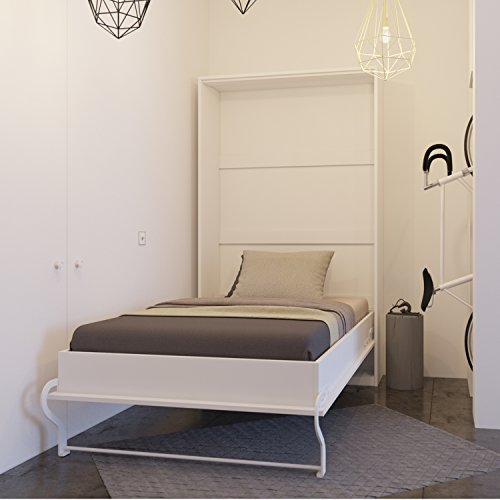 Bett verstecktem von 120cm vertikale Smartbett, Schrank Bett, das Bett Wandhalterung klappbar, weiß, 120 x 200 cm