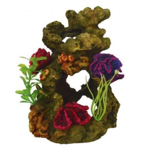 Heritage TB150 - Arrecife de coral decorativo para acuario sobre rocas, pintado a mano, compatible con Biorb 30/60