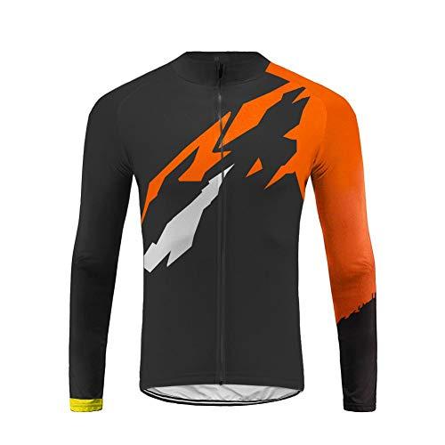 Uglyfrog Rradtrikot Herren Langarm Winter Style Fahrradbekleidung für Männer mit Elastische Schnell Trocknen Stoff