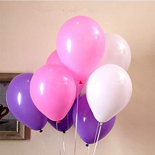 72pcs 12Inch Latex Pink Purple White Balloons For Wedding Decorations Baby Shower Anniversary Celebrations Birthday Party Supplies