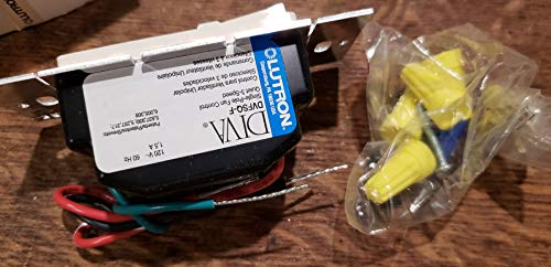 Lutron DVFSQ-F-LA Fan Control, Decora, 3-Speed, 1.5A, 120V, Light Almond