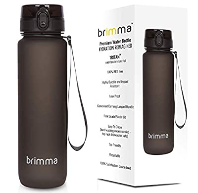 Premium Sports Water Bottle with Leak Proof Flip Top Lid - Eco Friendly & BPA Free Tritan Plastic - Must Have for The Gym, Yoga, Running, Outdoors, Cycling, and Camping