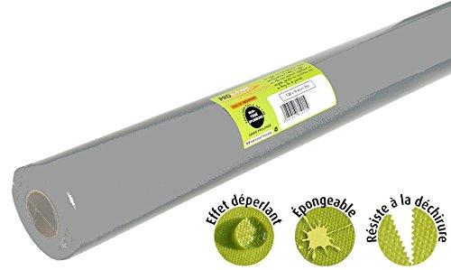 Pro Mantel – Ref R785030I – Mantel desechable de Fieltro spunbond – Rollo de 50 m de Largo x 1,20 m de Ancho – Color Gris – Tejido Resistente al desgarro, Impermeable y Lavable