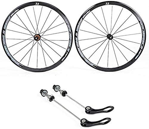 ZSY Wheels Cycling wheels 700C, rear and front wheel double-walled aluminum alloy bicycle rims BMX road bicycle wheelset Quick release 8 9 10 11 speed (Color : A)