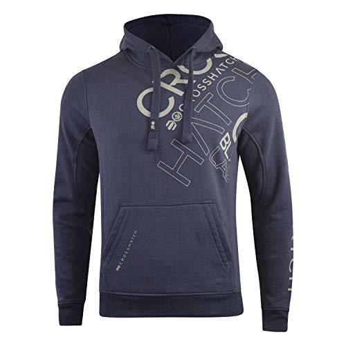 Crosshatch Herren Sawmore Hooded Sweatshirt Gr. S, navy