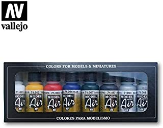 Vallejo Metallic Colors Model Air Paint, 8 bottles X 17ml