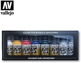 Vallejo Model Air Set de couleurs de peinture basic pour air brush–Couleurs assorties (Lot de 8)