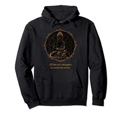 Buddha Zitat Mandala Gedanken Thoughts Pullover Hoodie