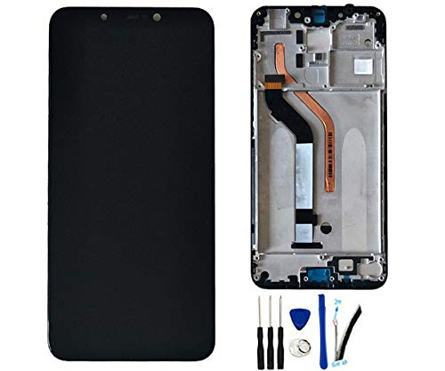 LCD Display Screen Digitizer Touch Screen Glass Panel Assembly Replacement for Xiaomi Mi Pocophone F1 / Poco F1 6.18' Black w/Frame