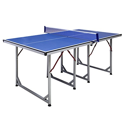 Hathaway Reflex 6-ft Table Tennis Table - Mid-Sized and Foldable for Small Spaces