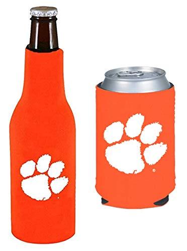 Set of 2 Clemson Tigers CAN & Bottle Cooler