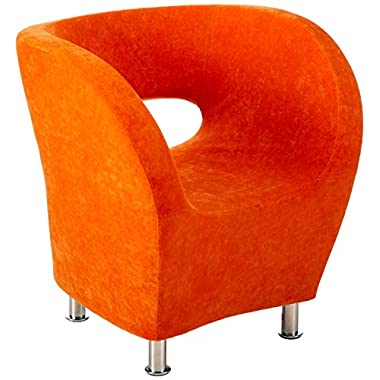 Christopher Knight Home CKH Modern Microfiber Accent Chair, Orange