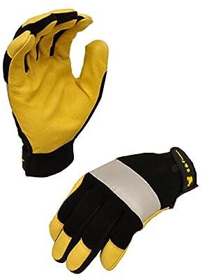 G & F 1091M Dark Owl High Visibility Reflective Performance Gloves Size