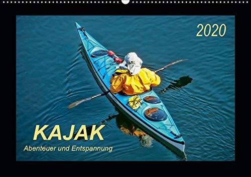 Kajak - Abenteuer und Entspannung (Wandkalender 2020 DIN A2 quer): Kajak, wilde Flüsse bezwingen oder ruhig über das Wasser gleiten - Abenteuer und Entspannung. (Monatskalender, 14 Seiten )